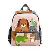 Sac à dos d'école pour enfants filles garçons Voyage enfants Sac à livres Étudiant Sac à dos décontracté organisateur cadeau mignon animaux de compagnie