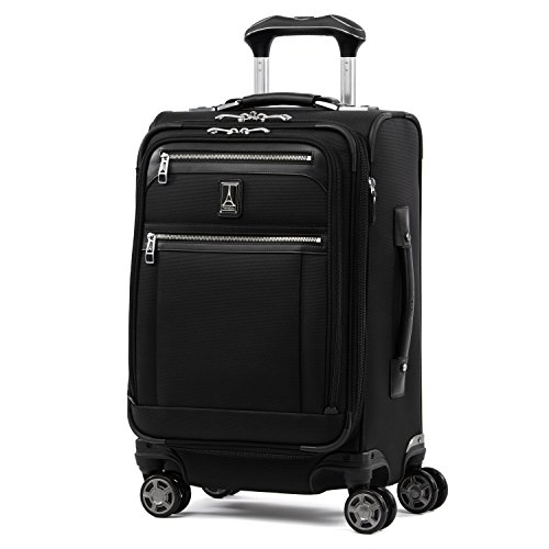 Travelpro Platinum Elite-Business Plus Softside Expandable Luggage, Shadow Black, Carry-On 20-Inch