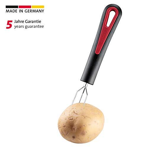 Westmark Pellkartoffelgabel mit 3 Zinken, Rostfreier Edelstahl/Kunststoff, Gallant, Schwarz/Rot, 29142270