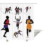 Yeuss Collection de décoration des Jeux Olympiques, Coureurs sur Le Campus Figure...