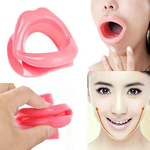 SWING Silikonkautschuk Gesicht schlanker Massage Muskelstraffer Anti-Aging Anti-Falten Mund abnehmen