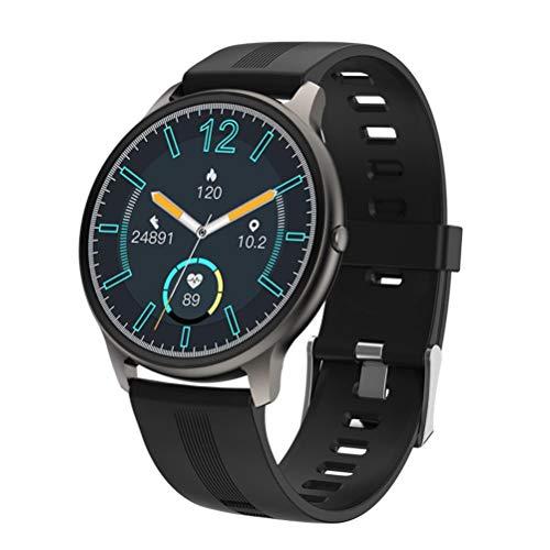Reloj inteligente con pantalla táctil completa, podómetro, frecuencia cardíaca y control de oxígeno en sangre, reloj inteligente para hombres y mujeres, para Android 5.0/iOS 9.0 y superior.