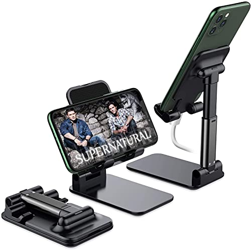 Foldable Cell Phone Stand, Yoozon [2021 Updated] Angle & Height Adjustable Desk Phone Holder with Stable Anti-Slip Design Compatible with iPhone 13 Mini/13 Pro Max/12/12 Pro/Smartphones/Kindle