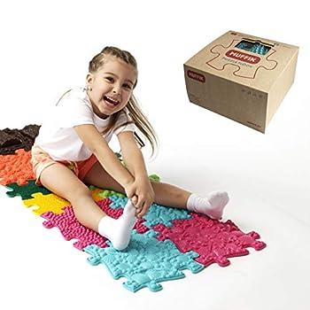 Sensory Orthopedic Puzzle Mat for Kids & Toddlers - Natural Surfaces for Feet - Stepping Stones Fidget Toy Set- Floor Lava Game Kids Toys - Autism Sensory Mat - Fidget Toys - Medium 1 Set
