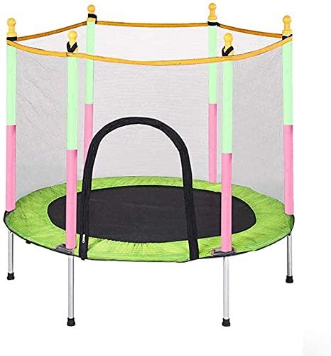 HKAFD Fitness Indoor Fitness Trampoline Deportes para niños Trampolín, Cama de Rebote Pequeño Trampolín con gabinete de Seguridad -Door o Trampolín al Aire Libre para niños 59 Pulgadas Regalo