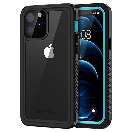 Lanhiem Funda Impermeable iPhone 12 Pro MAX, Carcasa Sumergible Resistente Al Agua IP68 Certificado [Protección de 360 Grados], Carcasa para iPhone 12 Pro MAX con Protector de Pantalla Incorporado