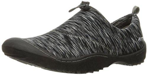 JSport by Jambu Women's Clare Walking Shoe, Black/Multi, 6 M US