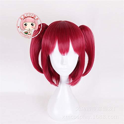 Anime LoveLive Sunshine Ruby Kurosawa peluca Cosplay disfraz Love Live Women pelo corto rojo pelucas de fiesta de HalloweenMZ-006