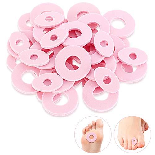 96 Stück Hornhautkissen, weicher Schaumstoff, selbstklebend, Hornhautpolster, reduziert Fuß- und Fersenschmerzen