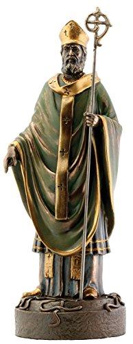 Statue catholique religieuse en bronze Saint Patrick