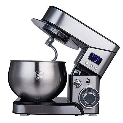 XIEZI Batidora Batidora Para Pasteles, Batidor Eléctrico De Escritorio, Máquina De Chef De Acero Inoxidable, Pequeña Amasadora Automática Para El Hogar, 800W / 5L
