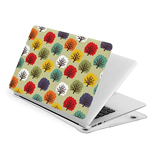 RYHT Colorful Trees Waterproof Pv Laptop Protector, Hard Shell Case with Bottom Cover Compatible with MacBook Touch13