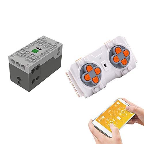 BSPAS Fernsteuerung und Akku/Empfänger Set mit Handy-App Kompatibel mit Lego Technik Ferngesteuertes Auto