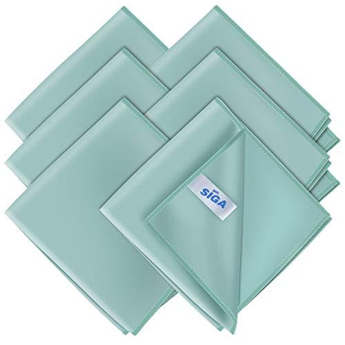 MR.SIGA Ultra Fine Microfiber Cloths for Glass, Pack of 6, 35 x 40 cm 13.7