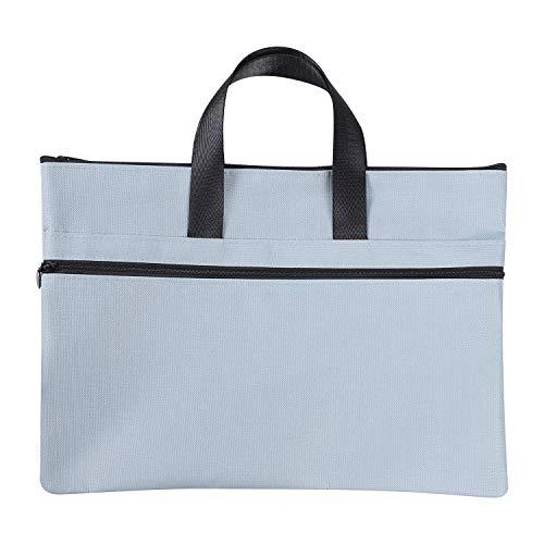 ファイルケース 手提げバッグ A4 B4 キャリングバッグ ビジネスバッグ 書類 バッグ 書類入れ 資料/ファイル 収納バッグ 持ち運び 丈夫 オックスフォード ファスナー ドキュメントバッグ フォルダー 通勤 通学 出張 (A4 ブルーA)