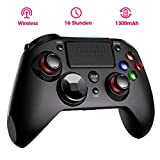Wireless Controller PS4, Dual Vibration Shock 4 PS4 Controller Kabelloser Gamepad Controller, Pro Game Controller Gamepad Joypad Joystick Kompatibel mit PS4, PS4 Slim, PS4 Pro