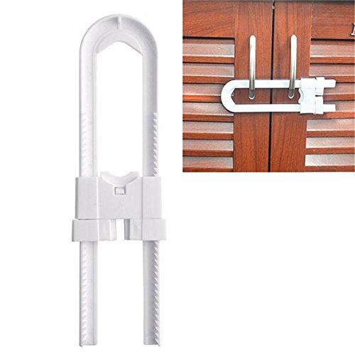 Inovey U-kast sloten Baby veiligheid Lock kast lade garderobe deuren koelkast toiletladen kast U vorm blokkers