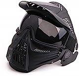 Máscara táctica de Airsoft, máscara Facial Completa con Gafas tácticas, Juego de Supervivencia de Halloween CS, Tiro, Caza, máscara de Juego de Roles
