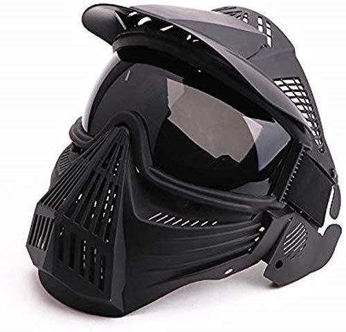 N / C Taktische Paintball Maske, Luftgewehr Maske, Vollmaske Mit Schutzbrille, Halloween BBS CS Spiel Kostümzubehör, Taktische Schutzausrüstung Und Für Offroad-Motorräder