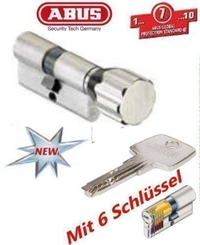 ABUS EC550 Profil-Knaufzylinder L/änge Z50//K30mm mit 5 Schl/üssel