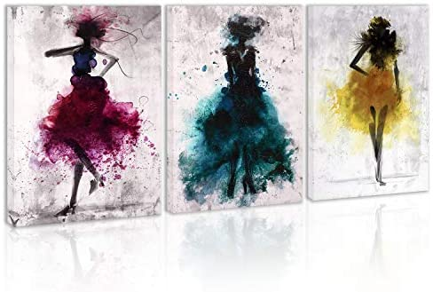Abstract dance paintings