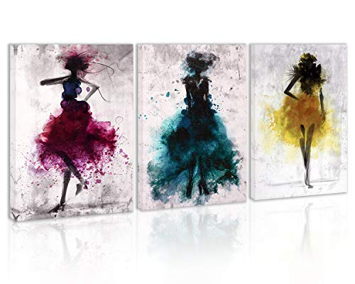 Watercolor Purple Girl Love Dance Wall Art Decor Modern Abstract Black and White Canvas Painting Kitchen Prints Pictures