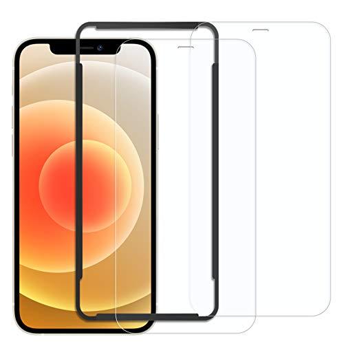 Naviurway 2枚入り iphone12 mini ガラスフィルム 5.4インチ用 保護フィルム 貼付道具付