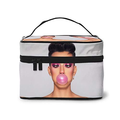 Jam-es Ch-arles Trousse de toilette de voyage Organisateur Trousse de toilette Portable Maquillage Train