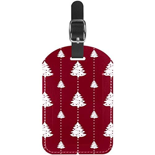 Etiquetas de equipaje para equipaje con diseño de árbol de Navidad y...