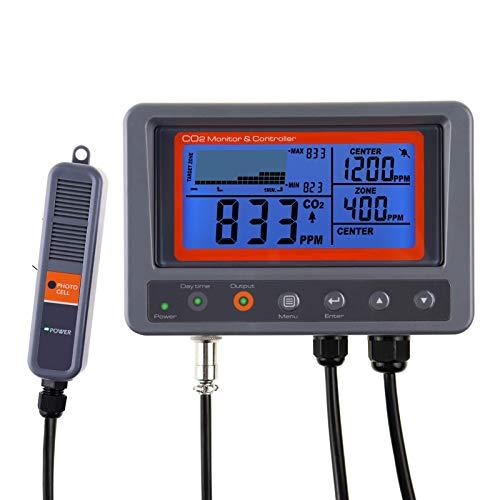 GAIN EXPRESS Controlador de monitor IAQ de dióxido de carbono CO2 digital con función de relé Sonda de detección NDIR de cable de 4,5 m para casa verde, oficina, fábrica