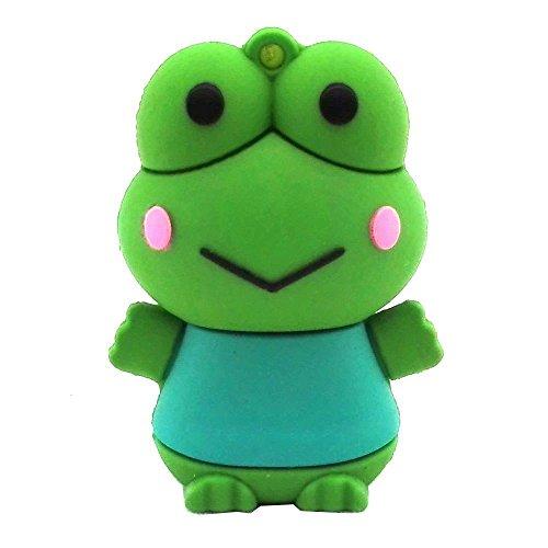 Chiavetta di memoria USB da 16GB, modello animale cartone animato, gatto nero, Aneew Frog 16 Gb