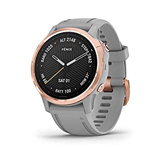 Garmin fenix 6S Sapphire, Premium Multisport GPS Watch, Smaller-Sized, Features Mapping, Music, Grade-Adjusted Pace Guidance and Pulse Ox Sensors, Rose Gold with Gray Band (B07W7F5V3B) | Amazon price tracker / tracking, Amazon price history charts, Amazon price watches, Amazon price drop alerts