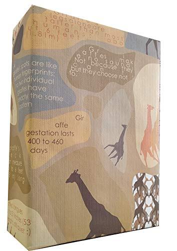 eVincE dickes mattes Geschenkpapier Giraffe | Happy Facts für Baby, Kinder und Kinder | Safari Mottoparty, Tiergeburtstag, für Jungen und Mädchen Geschenke | Set von 10 Blatt (70 x 50 cm) recycelbar