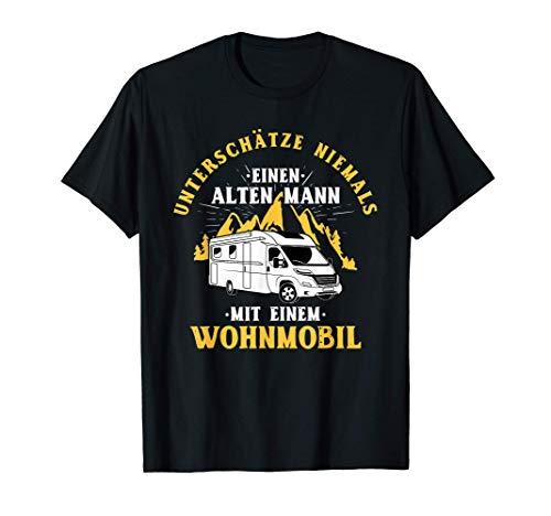 Herren Unterschätze niemals einen alten Mann mit Wohnmobil - Camper T-Shirt