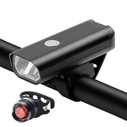 Bicicleta Luz Led Bicicleta Frontal Conjunto USB Cargable MTB Bicicletas Luz Trasera Ciclismo Faro Accesorios Mode1Set2
