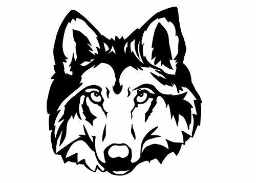 Wandtattooladen Wandtattoo - Wolfskopf 2 Größe:40 Farbe: Schablone