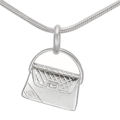 Sterlings Silber Anhänger Damenhandtaschen Damen Handtasche Abendtasche glänzend Kettenanhänger Silberschmuck #1245