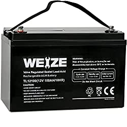 Weize 12V AGM Battery for RV Boondocking
