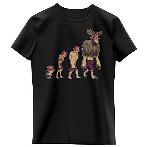 T-Shirt Enfant Fille Noir Parodie One Piece - Chopper - Pirate Evolution. : (T-Shirt Enfant de qualité Premium de Taille 14 Ans - imprimé en France)