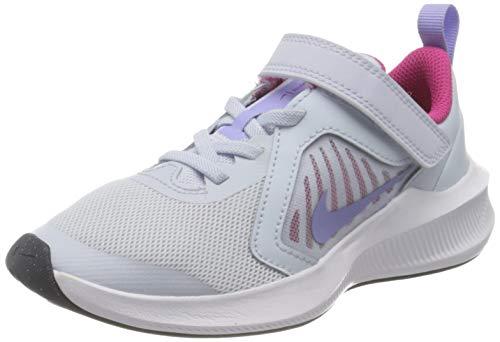 Nike Downshifter 10 (PSV), Scarpe da Corsa Unisex-Bambini, Football Grey/Purple Pulse-Thunder Blue-White, 31 EU