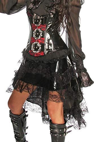 Rock Volant-Rock mit Spitze schwarz, Größe Atixo:M