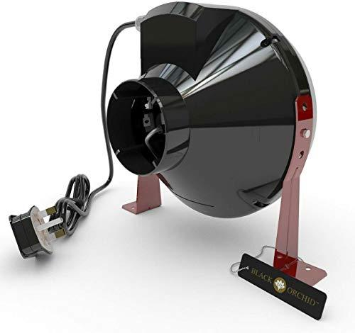 Ventilateur d'extraction d'air Grow Chambre Tente Hydroponique Noir Orchidée centrifuge en ligne 4 5 6 8 10 & 30,5 cm - 4 (100mm) Dia