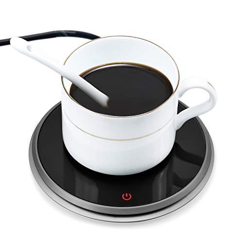 Wandefol Tassenwärmer Getränkewärmer Kafeewärmer mit Elektrischer Heizplatte für Tee Kaffee Milch Kaffeewärmer mit Eurostecker für Büro und Zuhause