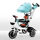 NBgycheche Triciclo Trike Triciclo para bebés - 4-en-1 Tripos DE NIÑOS Pedos DE PIETOS DETANTEBLE GUARDADOR Muchacha Juego Juego Ajuste Ajuste Arny DE Seguridad DE 8 Meses - 6 AÑOS