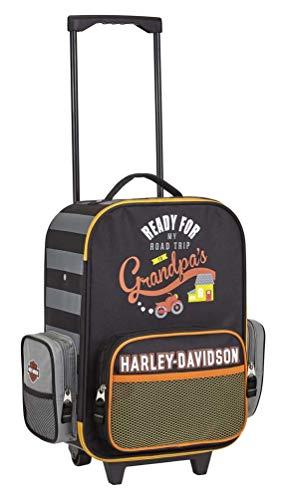 Harley-Davidson Kids' to Grandpa's Wheeling Carry-On Luggage - 99844-BLACK