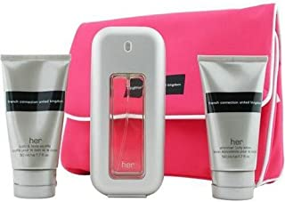 Fcuk By French Connection For Women. Set-edt Spray 1.7 oz & Body Lotion 1.7 oz & Shower Gel 1.7 oz & Cosmetic Bag