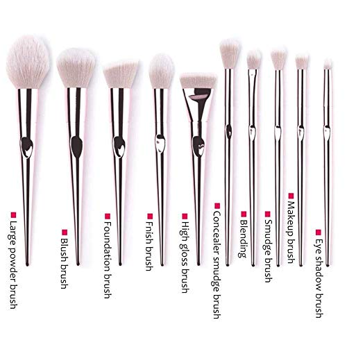 Brosse de maquillage Set Set de pinceaux de maquillage - 10PCS Rose Gold Soft Kit de pinceaux de maquillage de qualité Cosmétiques Set Brosses