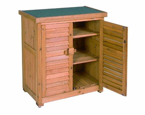 Leco Aufbewahrungsschrank für den Außenbereich, Größe: Höhe 95 cm, Breite 87 cm, Tiefe 46.5 cm, honigfarben