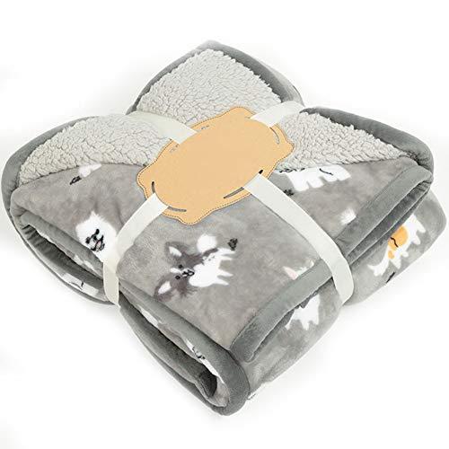 VLERHH Baby flanel deken, pluizige deken warm bed gooit voor bank, prachtige comfortabele diep flanel deken, pluche extra zacht en warm, dubbele lagen baby deken (120 * 150Cm)