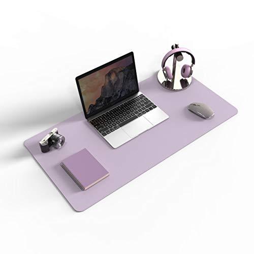 "Non-Slip Desk pad,New Material Leather Desk Blotter Pad,Soft Surface Desk Mat,Easy Clean Laptop Desk Writing Mat for Office/Home (Grayish Lavender, 23.6"" x 13.7"")"